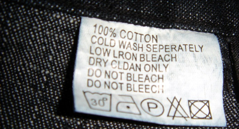 Entendendo as etiquetas nas roupas