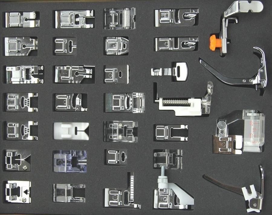 Quais são os acessórios da máquina de costura?