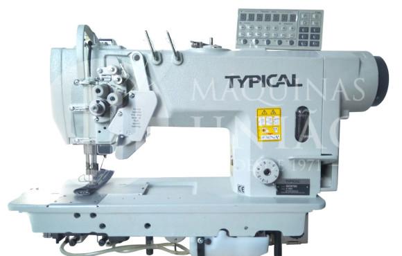 Máquina de Costura Industrial Pespontadeira Eletrônica Alternada Direct Drive Lançadeira Grande GC9751-HD3